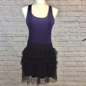 3/$15 Miley Cyrus Purple and Black Tutu Dress Lg